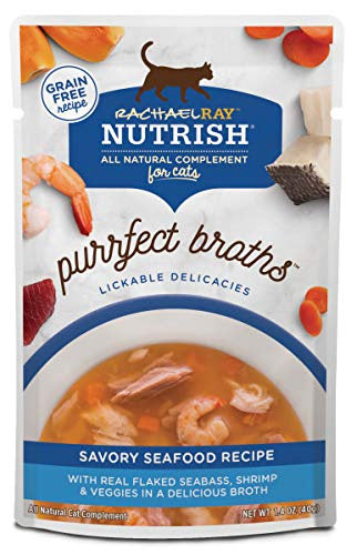 Rachael Ray Nutrish Purrfect Broths Savory Seafood Recipe Wet Cat Food Topper
