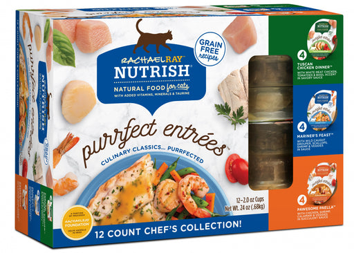 Rachael Ray Nutrish Purrfect Entrees Chef's Collection Variety Pack Wet Cat Food