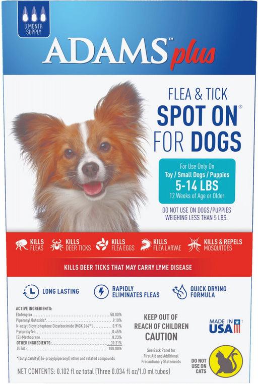 Adams Plus Spot On Flea & Tick For Small Breed Dogs