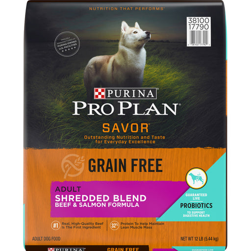 Purina Pro Plan Savor Grain Free Shredded Beef & Salmon Blend Formula Dry Dog Food