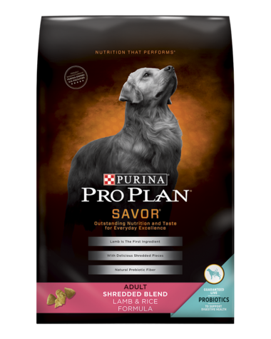 Purina Pro Plan Savor Shredded Blend Lamb & Rice With Probiotics Formula Adult Dry Dog Food