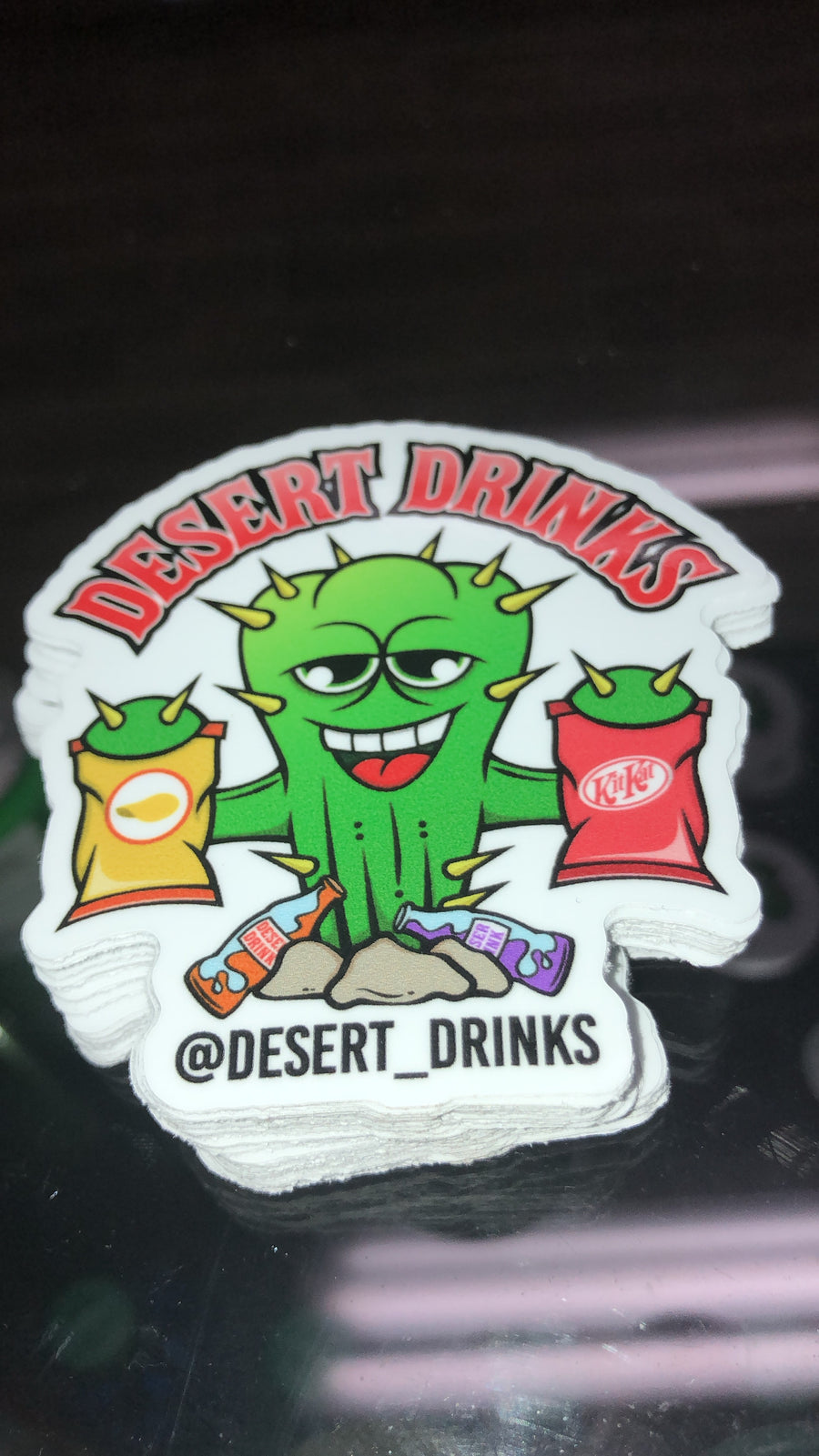 Desert Drinks Sticker - Cactus Man