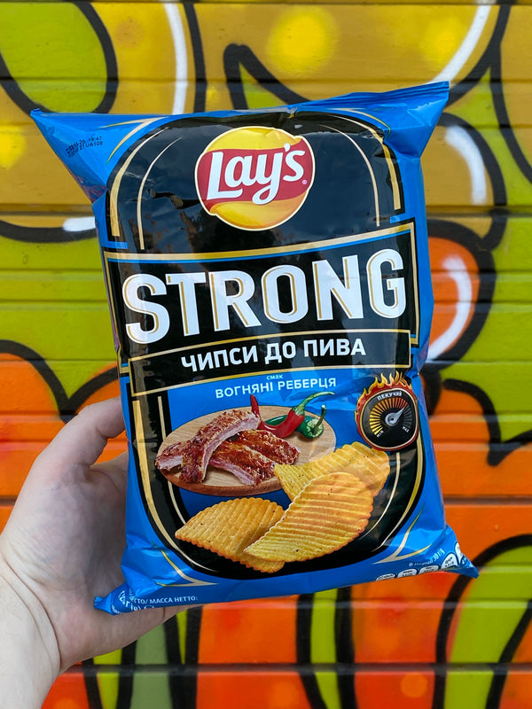 Lays Strong Fire Grilled Ribs (Ukraine)