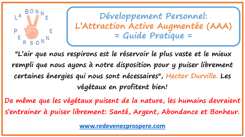 RP004: Attraction Active Augmentée - AAA: Guide Pratique de Transformation Positive