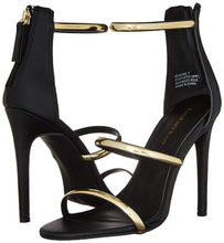 Load image into Gallery viewer, Bebe, Berdine Ankle Strap Sandal: Black
