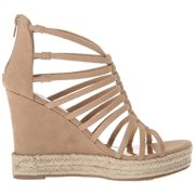 Load image into Gallery viewer, Carlos by Carlos Santana Camilla Platform Wedge Sandals: Sand