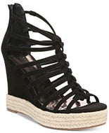 Carlos by Carlos Santana Camilla Platform Wedge Sandals: Black