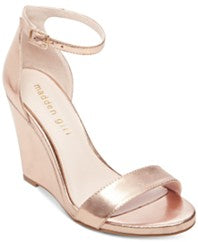 Madden Girl Willoow Wedge Sandals: Rose Gold Metallic