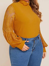 Load image into Gallery viewer, Blissfully Yours High Neck Blouse: Plus