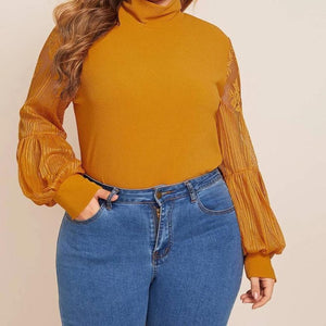 Blissfully Yours High Neck Blouse: Plus