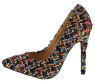 Princess Diana Tweed Pumps