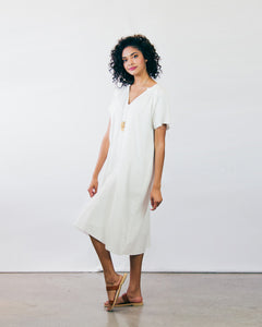 Hisako Frayed Peasant Dress