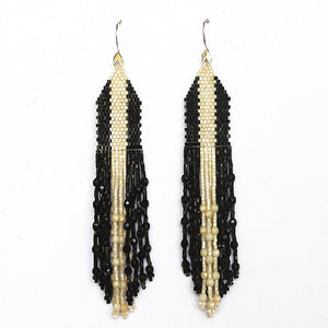 Arrow Earring Black Stripe