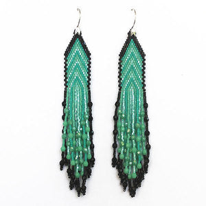 Arrow Earring Turquoise & Black