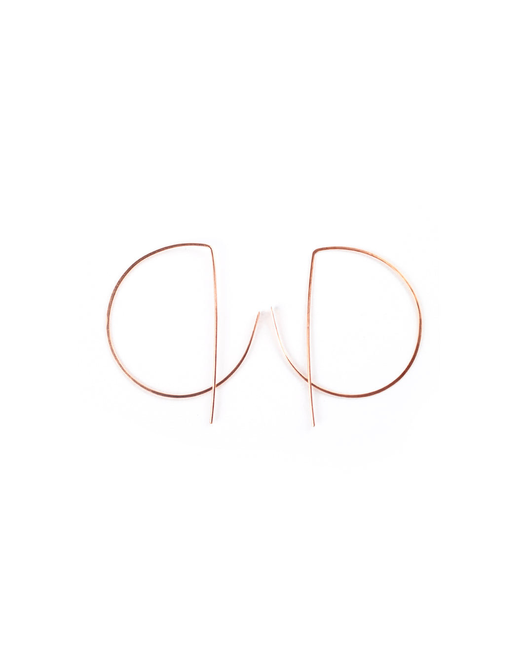 Geo Hoop (rose gold)- Small