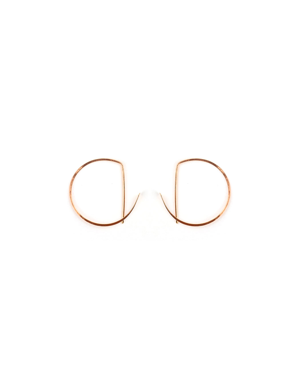 Geo Hoop (rose gold)- 2