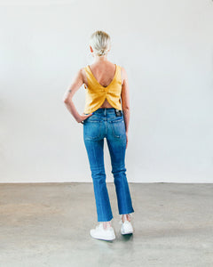 Bardot Straight Fray Jean