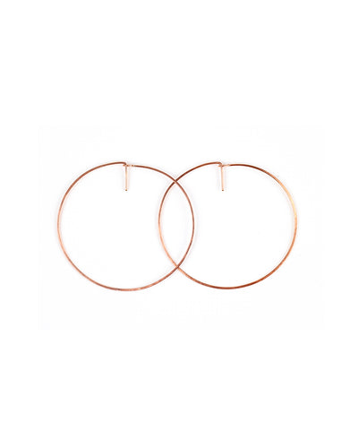 Deco Hoop (rose gold) - Medium