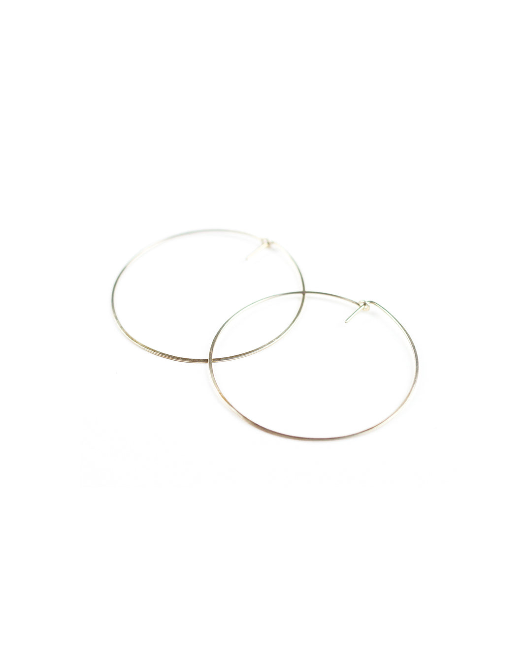 Deco Hoop (silver)-Medium