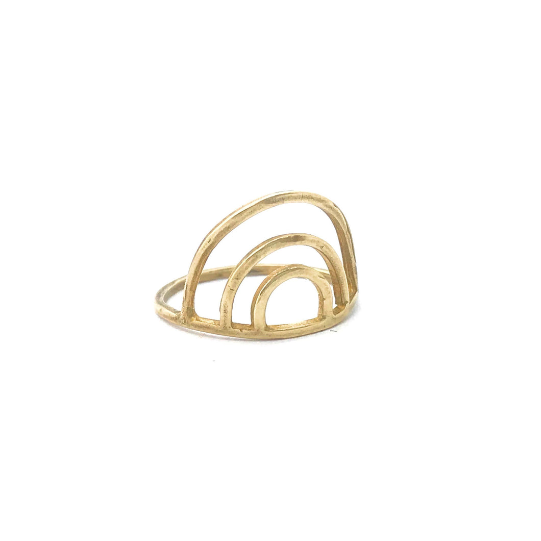 Rainbow Ring 14k gold