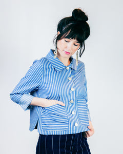 Koto Stripe Car Coat