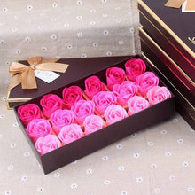 Load image into Gallery viewer, Rose Petals Bath Soap Flower Aromatic Artificial Flower Soap in Sand Bear Gift Box