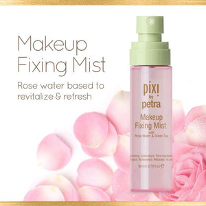 Pixi Beauty - Makeup Fixing Mist, with Rose Water and Green Tea, 2.7 fl oz (80 ml)