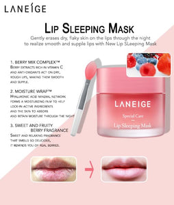 Lip Sleeping Mask, Berry, 20 g