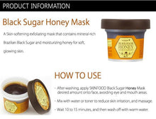 Load image into Gallery viewer, Skinfood - Limited w/ Spoon Black Sugar Mask Wash Off Exfoliator, 3.53 Ounce