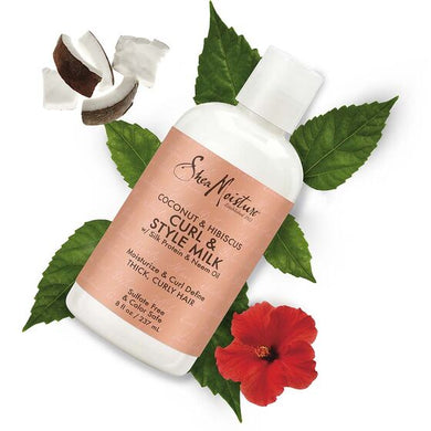SheaMoisture Coconut & Hibiscus for Thick, Curly Hair & Style Milk Cream 8 oz