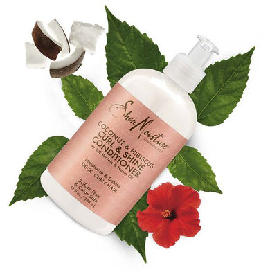 Curl & Shine Conditioner, Coconut & Hibiscus, 13 fl oz (384 ml)