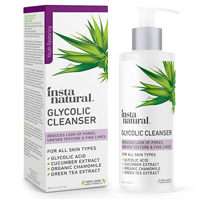 Insta naturals Glycolic Cleanser, 6.7 fl oz (200 ml)
