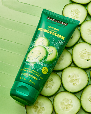 Feeling Beautiful, Renewing Peel-Off Gel Beauty Mask, Cucumber, 6 fl oz (175 ml)