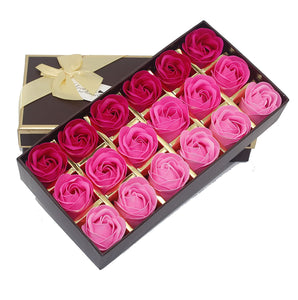 Rose Petals Bath Soap Flower Aromatic Artificial Flower Soap in Sand Bear Gift Box