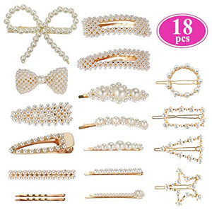 Pearl Hair Barrettes for Women Girls