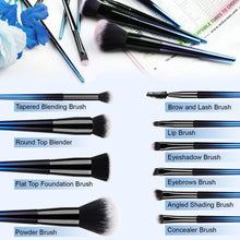 Load image into Gallery viewer, Makeup Brushes Set with a Portable Cosmetic Bag - HEDILINA 10 pcs