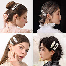 Load image into Gallery viewer, Pearl Hair Barrettes for Women Girls