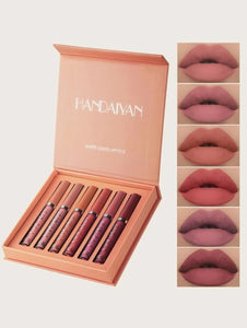 Makeup Matte Liquid Lipstick Sexy Long Lasting Lip Gloss Box Set Brand HANDAIYAN