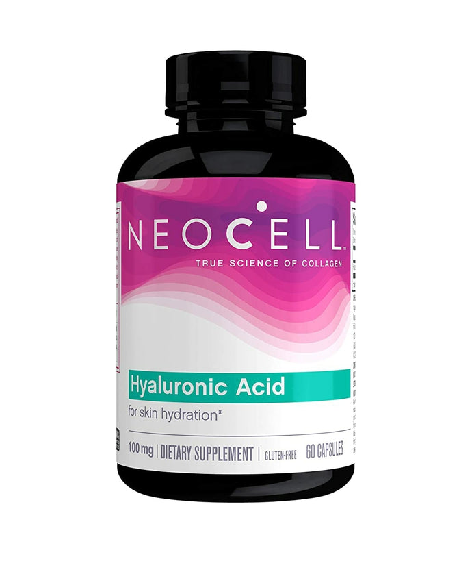 NeoCell Hyaluronic Acid, Daily Hydration for Skin Hydration & Suppleness,100mg 60 Capsules