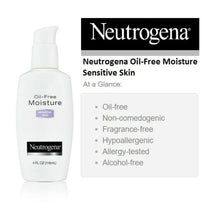 Load image into Gallery viewer, Oil Free Moisture, Ultra-Gentle Facial Moisturizer, Sensitive Skin, 4 fl oz (118 ml)