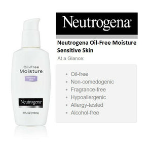 Oil Free Moisture, Ultra-Gentle Facial Moisturizer, Sensitive Skin, 4 fl oz (118 ml)