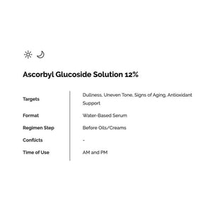 THE ORDINARY  Ascorbyl Glucoside Solution 12%( 30ml