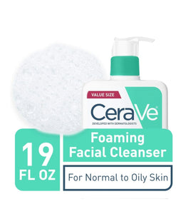 Foaming Facial Cleanser, For Normal to Oily Skin, 19 fl oz