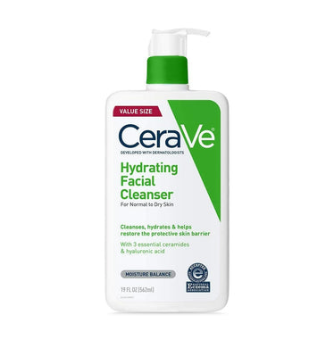 CeraVe Hydrating Facial Cleanser | Moisturizing Non-Foaming Face Wash with Hyaluronic Acid, Ceramides & Glycerin | 19 Fluid Ounce