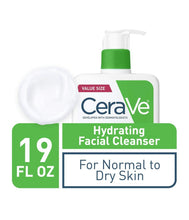 Load image into Gallery viewer, CeraVe Hydrating Facial Cleanser | Moisturizing Non-Foaming Face Wash with Hyaluronic Acid, Ceramides & Glycerin | 19 Fluid Ounce