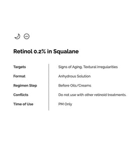 THE ORDINARY  Retinol 0.2% in Squalane( 30ml)