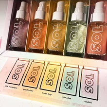 Load image into Gallery viewer, bottle service sol shimmering dry oil kit