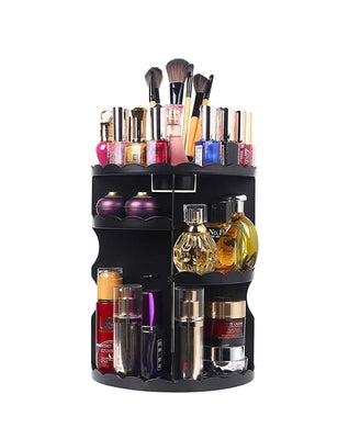 360 Rotation makeup organizer BLACK