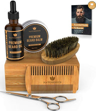 Load image into Gallery viewer, Naturenics Premium Beard Grooming Kit for Men