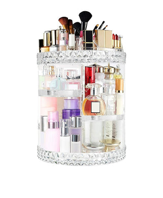 Makeup Organizer 360 Degree Rotating 7 Adjustable Layers Large Capacity